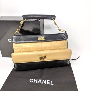 Chanel Double Flap Bag Mademoiselle Chocolate Bar